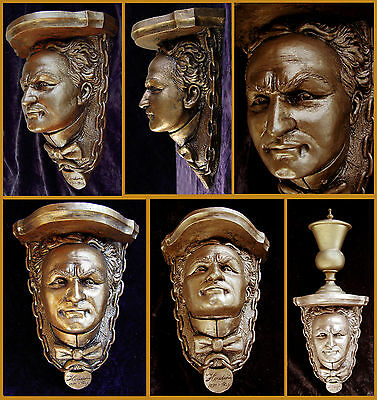 HOUDINI BUST WALL SHELF for collectibles. Or use as a corbel for your Magic Den