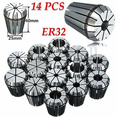 "ER32 14PCS COLLET PRECISION SET 1/16""-3/4"" By 16th ACCURATE"