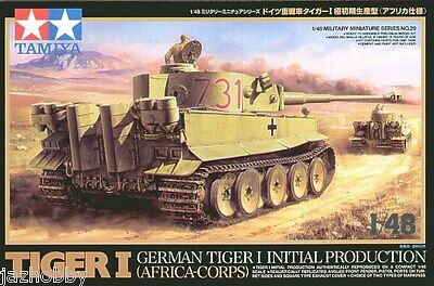 Tamiya 32529 1/48 Model Kit German Tiger I Initial Production Tank Africa-Corps