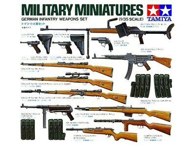 Tamiya 35111 1/35 Scale Military Model Kit German Army Infantry Weapons Set