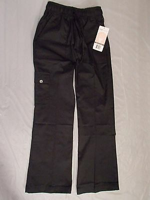 Chef Works CPWO-BLK Women's Cargo Chef Pants, Black, Size XS