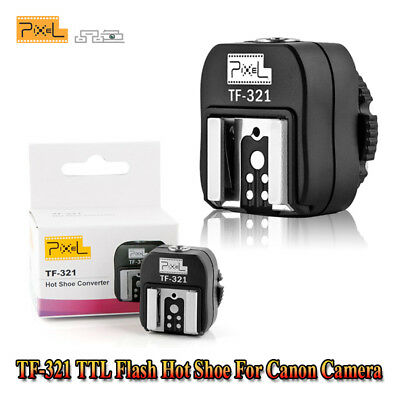 Pixel TF-321 ITTL TTL Hot Shoe Converter Adapter to PC Sync Socket for Canon