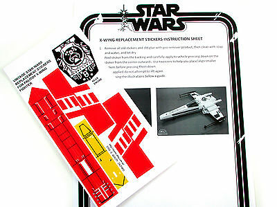 STAR WARS VINTAGE XWING REPLACEMENT STICKERS for 1978-82 X-WING FIGHTER PALITOY