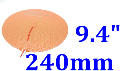 240mm Round 230V 300W with NTC100K thermistor with 3M Silicone Heater Pad  1 PC