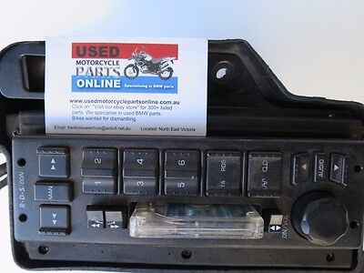 Bmw R1150Rt Motorcycle  Radio/cassette Tape And Cover Oem Used Part 65127652667