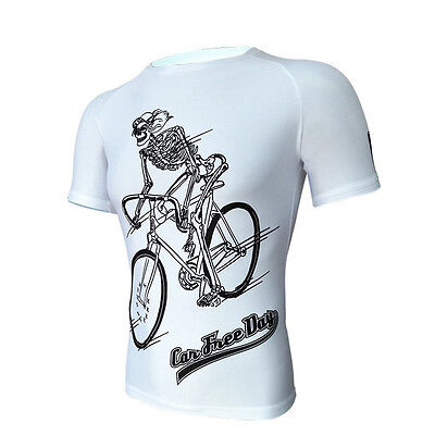 Men's Outdoor Sports Cycling Jersey Tight Clothing Summer Short-sleeved T-shirt