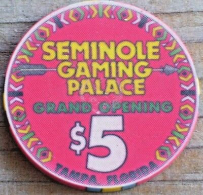 $5 Gaming Chip From The Seminole Indian Casino, Tampa Fl