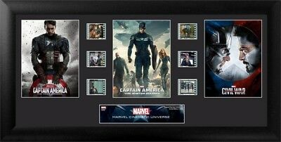 Captain America Trilogy Limited Edition Film Cell Trio Officially Licensed
