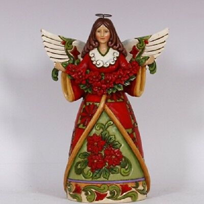 Poinsettia Angel  Figurine Disney Jim Shore Figurine
