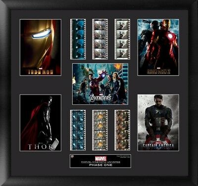Marvel Cinematic Universe Phase 1 Mixed Montage Filmcell Officially Licensed