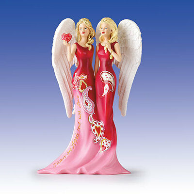 """Sisters are Angels Sent with Love """"Beloved"""" Thomas Kinkade Angelic Figurine"""