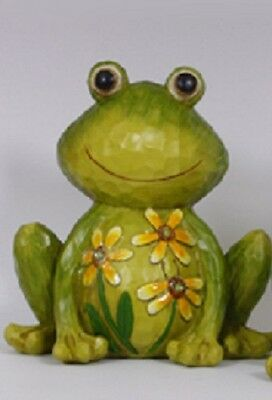 Frog Figurine Decorated with Flowers Hands Down - Enesco