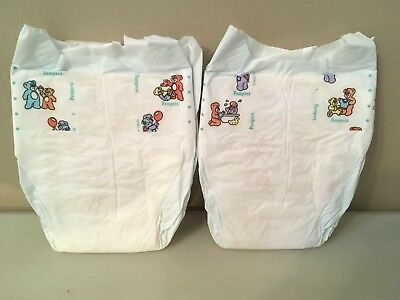 1 Vintage Pamper Baby-Dry Plastic Backed Size Newborn Diapers Reborn Doll Baby