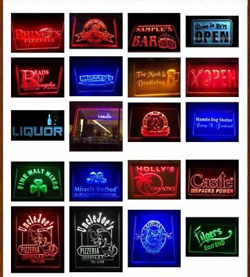 7 Colors & 2 Sizes Custom Signs LED Signs Neon Signs Edge Lit Design Your Own