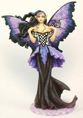 Goth Blue Fairy - Amy Brown  Fairysite Collectible