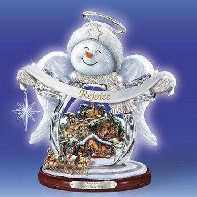 Snow Angel Holy Night Thomas Kinkade Figurine Bradford Exchange
