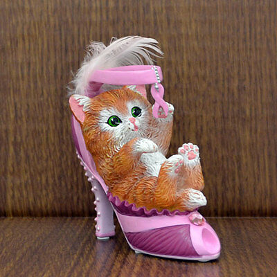 Playful Love  Hope Cat in a Shoe Figurine - Bradford Exchange