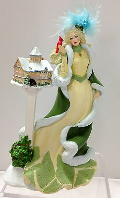 Victorian Christmas Lady Figurine Thomas Kinkade Ladies of Light