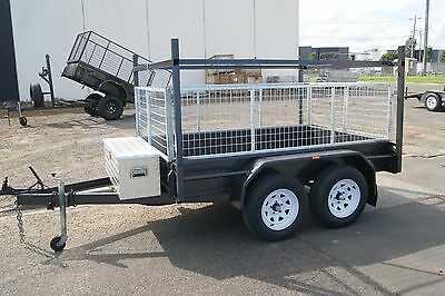 8x5 Tandem Trailer with Racks & 2ft Full Galvanised Cage