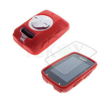 Road/Mountain Bike Red Skin Case Cover + Screen Protector For Garmin Edge 520