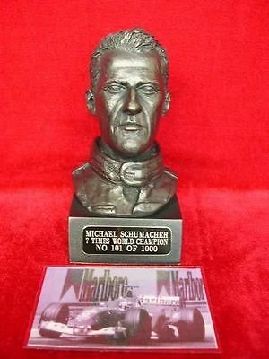 Michael Schumacher Bust Model Sculpture Limited Edition Legends Forever Rare