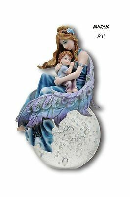 Divinity Angel Mother with Baby Bubble Rider Divinity Fairies Figurine - ZEM