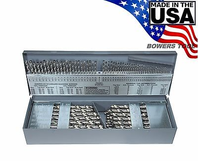 "Norseman 115 pc Bright M7 Drill Bit Set Number Letter 1/16"" to 1/2"" USA J-115"