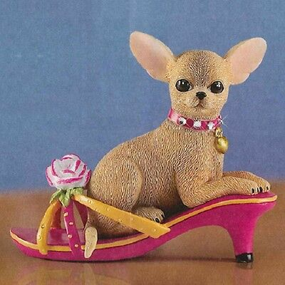 Spring in my Step Chihuahua  Dog Figurine in Shoe Bradford Exchange