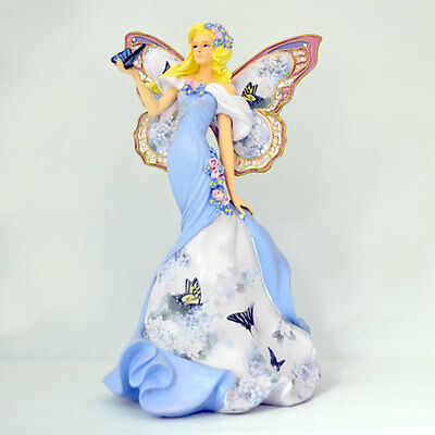 Serene Support Angel Enchanted Hope Lena Liu Figurine - Bradford Exchange