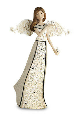 Serenity Angel Holding Butterfly Modeles - Angel Figurine 9""