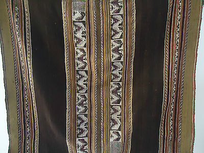 Awayo Manta Cloth Antique Andean Aymara Indian  Hand Woven La Paz Bolivia