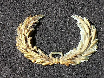 Orig. US Civil War CONFEDERATE VETERANS Brass HAT WREATH Soldered mounting Pins