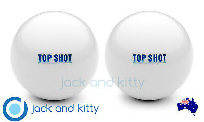 Brand New 2 Pack Top Shot White Standard Grass Jacks Lawn Bowls Jack