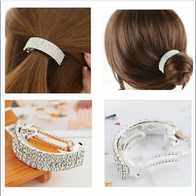 Sweet Girls Hair Clip Party Crystal Rhinestone Barrette Clamp Hairpin Gift