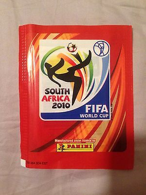 1 New Sealed Pack Of Panini World Cup 2010 stickers (5 Stickers)