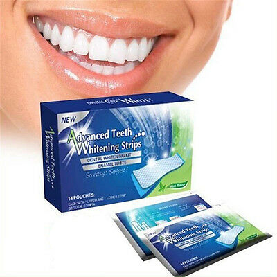 New 28 Advanced 3D Teeth Whitening Professional White Strips Tooth Bleaching Kit