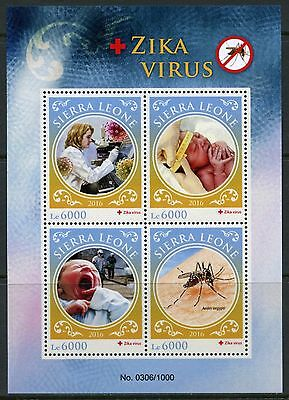 Sierra Leone 2016  Zika Virus  Sheet  Mint Nh