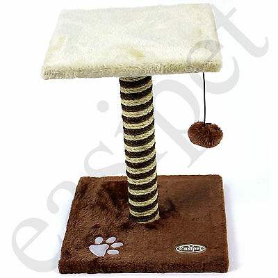 Cat Scratching Post Tree Kitten Scratch Scratcher Toy Sisal Activity Centre