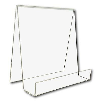1 Large Wide Clear Perspex Acrylic Plastic Book Retail Display Stand Holder