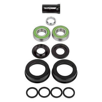 OLD SCHOOL BMX Black Ops Mid American  Dualie bottom bracket BB SET19mm SLD BK