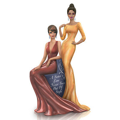 A Sisters Love Never Goes Out Of Style Keith Malllet Figurine Bradford Exchange