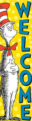 Eureka Cat In The Hat Welcome Vertical Banner (849664)