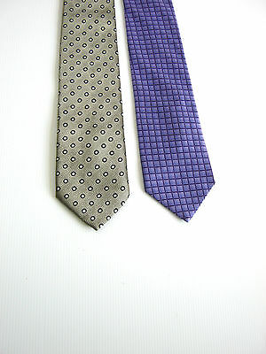 2 X Cravatte Ties St. Michael From Marks & Spencer  England Italy