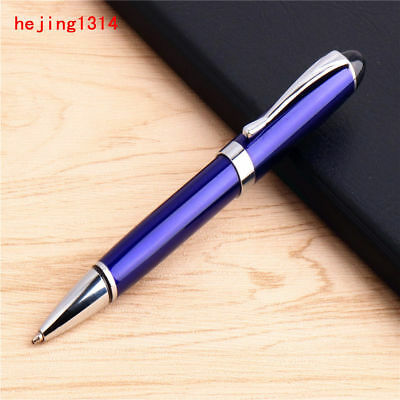 Jinhao 413 Blue Colour Business office Medium nib Black ink Ballpoint Pen New