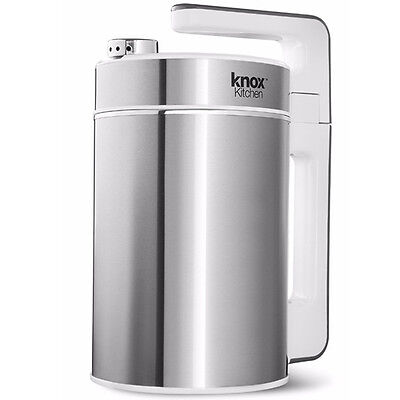 Knox Automatic Hot Soy (Almond,Rice,Cashew) Milk & Soup Maker (Stainless Steel)