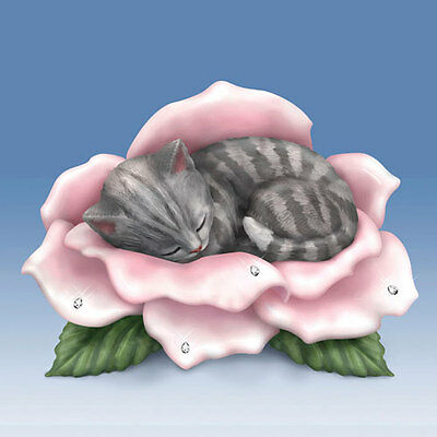 Love's Purr-fection Cat on Flower Blooming Expressions Figurine