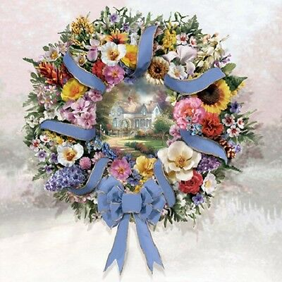 A United Welcome Wreath Thomas Kinkade Bradford Exchange