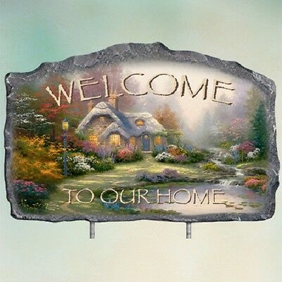 Warm Welcome Sign Seasonal Set Thomas Kinkade Bradford Exchange
