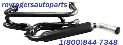 BLACK /& CHROME TYPE 1 /& GHIA VW BUG BUGGY EMPI 3680 PEA SHOOTER EXHAUST SYSTEM