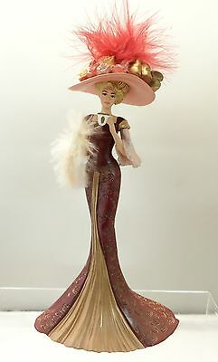 A Delicate Encounter Lady Figurine Thomas Kinkade Whispers of Victorian Elegance
